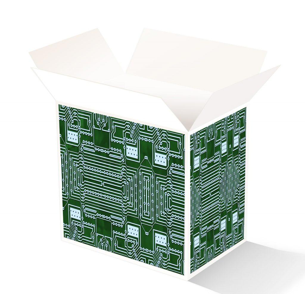 package, board, open